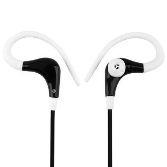 Allwin In-Ear Sports Running Active Earphone Earbuds Hook Headphone Headset (Black/White) (Intl)