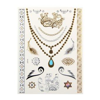 Fashion 3D Tattoos Sticker different design(as the picture) - Intl