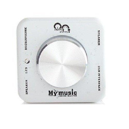 harga Universal Portable USB Audio Amplifier External Surround Sound Blaster Card for Laptop - Putih Lazada.co.id