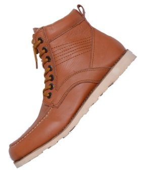 ZimZam Sepatu Kingman Leather Tan