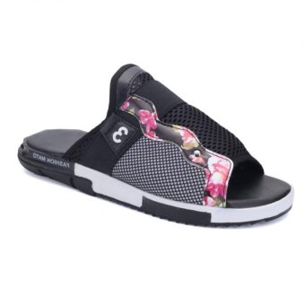 Men's Superstar Slipper Fashion Casual Sandals 0319Shangdong-T55(Black) - Intl