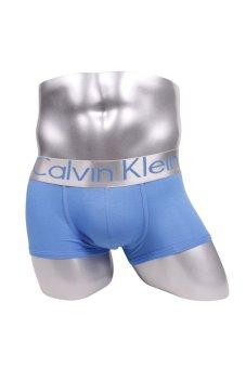 harga Calvin Klein Steel Microfiber Low Rise Trunks - Celana dalam Pria model Trunks/Boxer - Biru Lazada.co.id