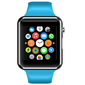 A1 Bluetooth Smart Watch With SIM Phone Call ,Take Selfie for iPhone and Android Smartphones,Anti-lost,Activity Tracking, Sleep Monitoring-Blue (Intl)