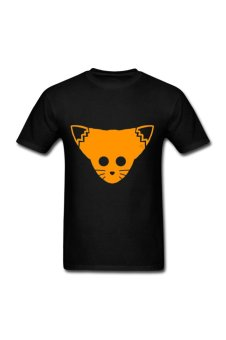 Men's Foxface Tangerine Customize T-Shirt for black - Intl