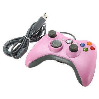Generic USB Wired Game Pad Joypad Controller for Microsoft Xbox 360 Slim PC Pink color