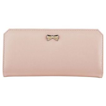 XH Hot Long Card Holder Case Fashion Lady Leather Purse for women(pink) - INTL