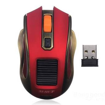 2.4G Wireless USB Rechargerable Solar Optical Gaming Mouse (Intl)