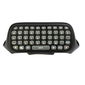 Black Keyboard Keypad Chatpad Live for Microsoft Xbox 360 Controller Video Game (Intl)
