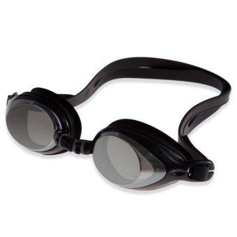 Unisex Waterproof Anti-fog Swimming Goggles With Earplug(Black) (Intl)