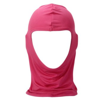 UJS Unisex Outdoor Cycling Ride Ski Neck Protectio Lycra Single Holes Full Face Mask Hot Pink (Intl)