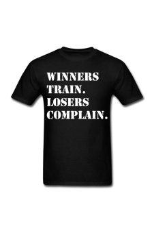 Men's Winners Train Losers Complain Designed T-Shirt for black - Intl