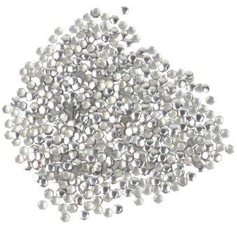 landor 3D Design Diamond Shape Metallic Cell Phone Studs Nail Art Stickers (Silver,1000pcs) - Intl