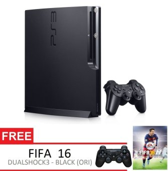 Sony Playstation 3 Slim 160GB + Gratis Extra PS3 Controller + FIFA 16