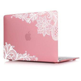 Batianda Lace Pattern Case Cover for MacBook Air 13 13.3ﻗ°ﻻ (Pink) (Intl)