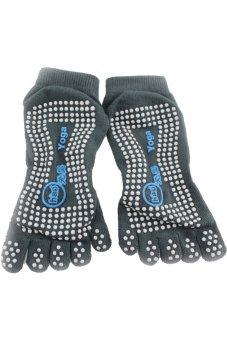 Antibacterial Not-slip Cotton Yoga Socks (Grey)