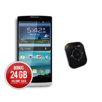 Pixcom AndroMixx - 4 GB - Hitam + MiFi LTE Smartfren Andromax M3Y