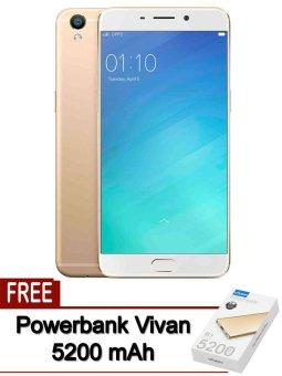 Oppo - F1s Selfie Expert - 32 Gb - Gold + Powerbank Vivan 5200 mAh