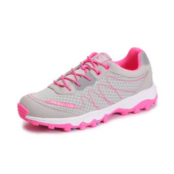 ZHAIZUBULUO Women Flat Outdoor Sports Hiking Shoes ZJW-1601(Pink) - Intl