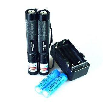 301 Laser Pointer 2pcs Laser Pointer Purple + Green Laser Pointer Lazer Pen Black - 301TC81 (Intl)
