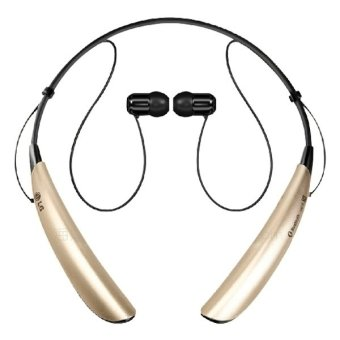SUNSKY Noice Isolation Sports Neck-strap Bluetooth Stereo Headset (Gold)