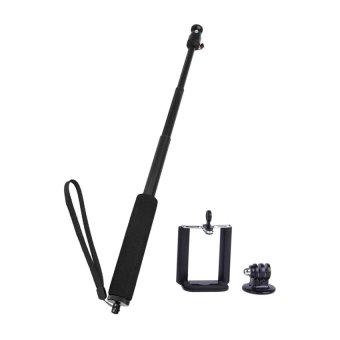 HKS 3-mobile phone Adjustable Handheld Selfie Monopod for outerdoor for Camera / Cellphone / GoPro Hero 2/3/3+/SJ4000 Black (Intl)