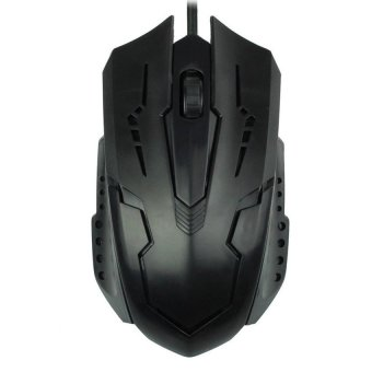 Luxury 1200 DPI USB Wired Optical Gaming Mice Mouse for PC Laptop (Black) - Intl