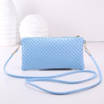 Fashion Women Leather Clutch Shoulder Messenger Evening Bag Fish Scale Handbag Blue Autoleader (Intl)