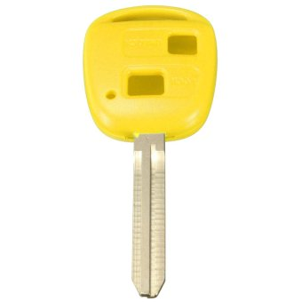 2 Button Remote Key Fob Case for TOYOTA CAMRY RAV4 COROLLA CELICA PRADO Avensis (Yellow) (Intl)