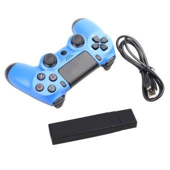USB Wireless Game Pad Joypad Joystick For Sony playstation 4 PS4 DualShock 4 PC Controller Blue (Intl)