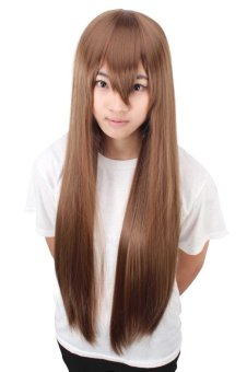Reaty 31 Inches Cosplay Women Wigs Anime Synthetic Wigs with Long Straight Hair for Party Costume(Brown) (Intl)