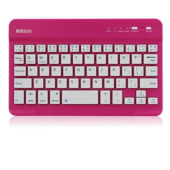Android/IOS/MAC Pad 9.6 Inches Mini Wireless Bluetooth Chocolate Keyboard(Red)(INTL)