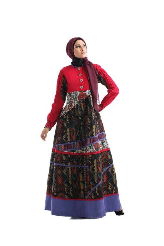 harga Tuneeca Tebaru 2015 Dress Muslimah Tuneeca - Merah Lazada.co.id
