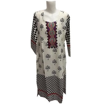 Fashion Wanita Dress India 01 - Putih