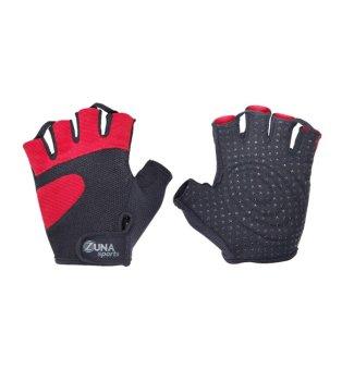 Zuna Sport Men D Round fitness Gloves - Merah