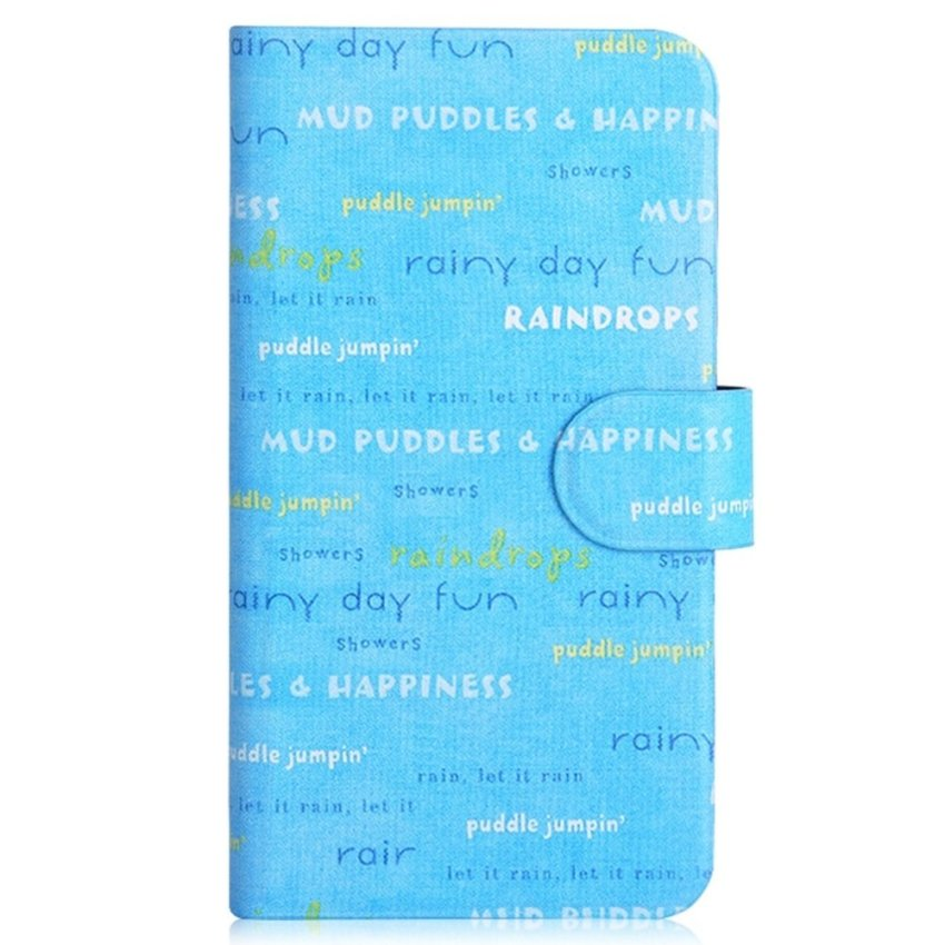 Colorful Letter Graffiti Design Card Slot Magnetic PU Leather Flip Case Cover Compatible For Haier i860 W860