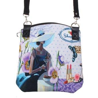 Women Shoulder Messenger Vintage Canvas Crossbody Satchel Handbag Purple - INTL