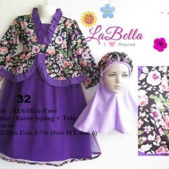 harga Labella - Gamis Anak Purple Flo Lazada.co.id