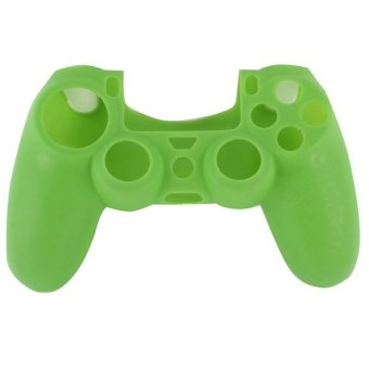 Soft Silicone Rubber Gel Skin Case Cover for Sony PlayStation 4 PS4 Controller Green (Intl)