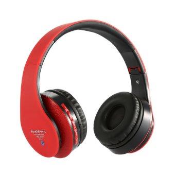 Frenshop Headphone Wireless N12 Headset Bluetooth - Merah