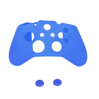 RIS Silicone Protective Skin Case for Joystick + 2 caps - Blue (Intl)