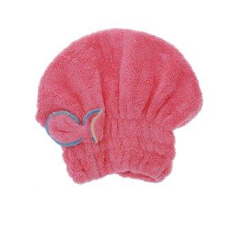 Useful Dry Hair Hat Microfiber Hair Turban Quickly Dry Hair Hat Wrapped Towel Bathing Cap (Intl)