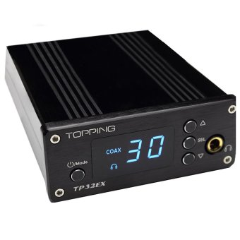 Topping TP32EX 50WPC TK2050 T-AMP Coaxial USB DAC Headphone Amplifier + Remote Control (Black) (Intl)