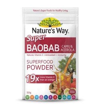 Natures Way SuperFoods Baobab Camu Acerola Powder Vitamin C - 50g