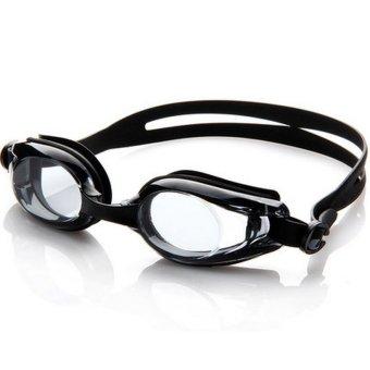 Unisex Big Frame Waterproof Myopia Goggles(Black) - Intl