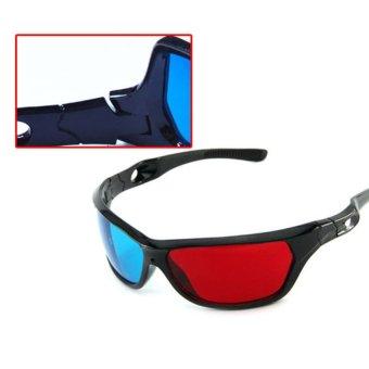 S & F Red Blue Plasma TV Movie Dimensional Anaglyph Framed 3D Vision Glasses - Intl