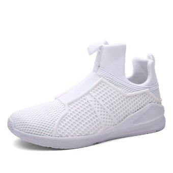 ZNPNXN Fabric Men's Sports Shoes Slip-on (White) - INTL