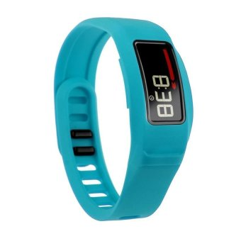 HKS New Replacement Silicone Strap Clasp Wrist Bracelet Band for Garmin Vivofit 2 Light Blue S - Intl
