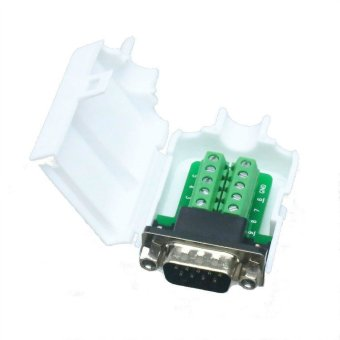 Fliegend DB9 D-SUB VGA plug 10pin Terminal Breakout PCB Connector COVER HOOD SHELL nut (Intl)