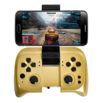 Bluetooth Wireless Rechargeable Gaming Controller For Android/IOS Tablet Mobile Phones Joypad(Gold) (Intl)