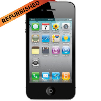 Refurbished Apple iPhone 4 - 16GB - Hitam - Grade A